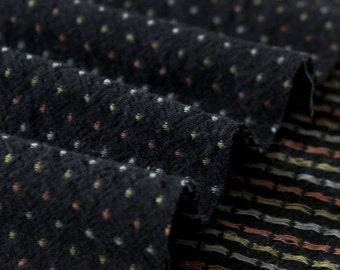 Cotton Fabric Tiny Dots - Black - By the Yard 46860 - 163