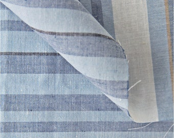 Yarn Dyed Linen Vintage Stripe - Blue - By the Yard 41954