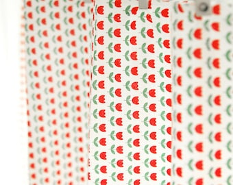 Cotton Fabric - Red Tulips - By the Yard 43464
