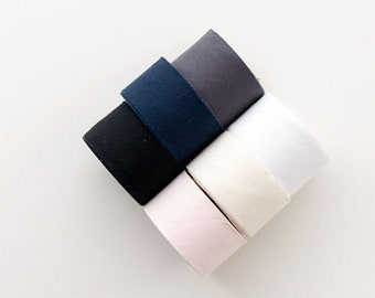 4 cm Solid Cotton Bias - White, Ivory, Light Pink, Charcoal, Navy or Black - 10 Yard roll - 104712
