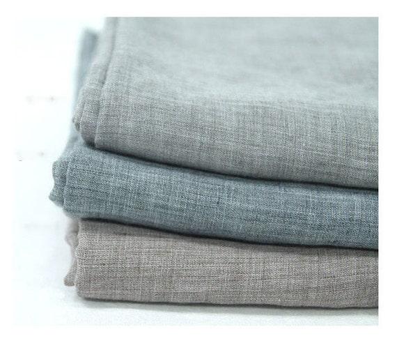 tissu gaze de coton doux laver la gaze gris gaze gaze etsy. Black Bedroom Furniture Sets. Home Design Ideas