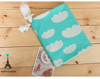 Cloud Cotton Fabric - Mint - By the Yard 54256