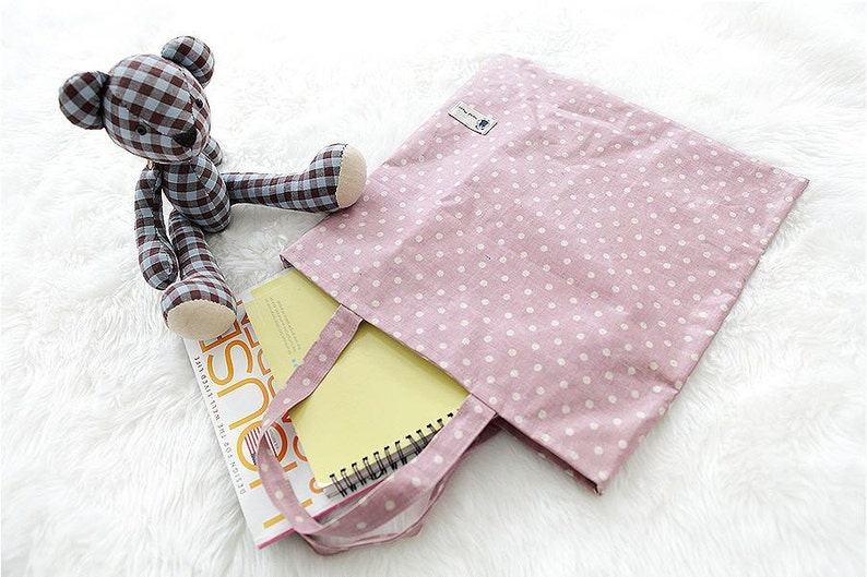 Laminated Linen Waterproof Fabric  Vintage Dot Pink  By the image 0