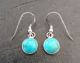 10mm Chinese turquoise earrings