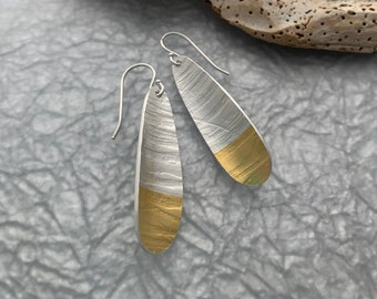 Everyday Silver & Gold Earrings // Keum Boo Earrings // Contemporary Earrings // Carla Pennie McBride
