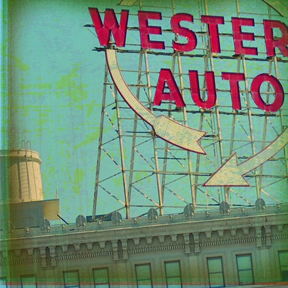 Kansas City Coaster Collection Western Auto Sign Single Etsy