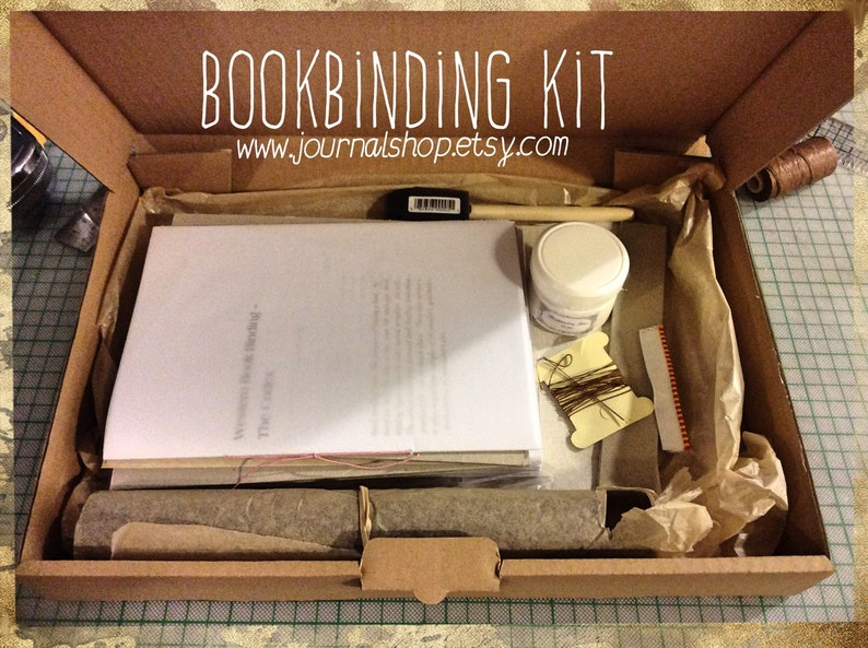 Bookbinding kit DIY book arts kit make your own journal book image 0