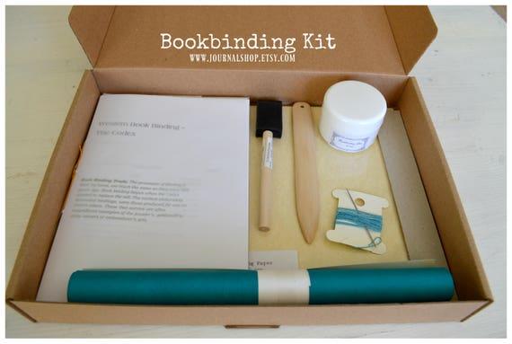Diy book bookbinding kit journal kit for a hardcover etsy image 0 solutioingenieria Images