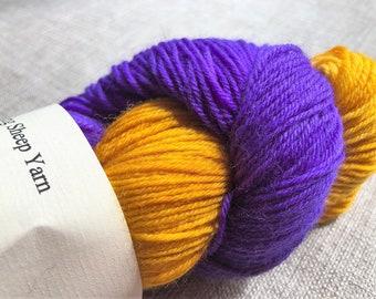 Sock yarn 'Purple pansy' semi-solid