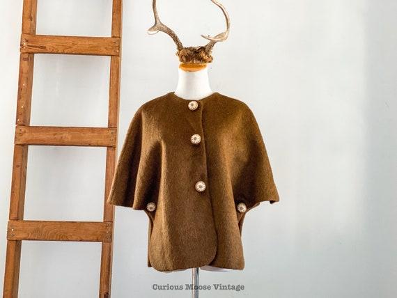 50's King of the Ponchos Country Place Mohair Wool