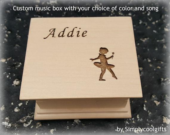 Custom Ballerina Music BoxWood Music BoxPersonalised Music BoxPersonalized Music BoxWooden Music BoxGift For Her Girl Friend WifeMB45