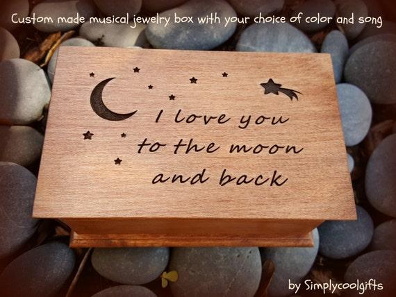 Tiny Box Earring Box Wedding Gift Ring Box Tiny Sentiment Box I love you to the moon and back Tiny Metal Box Bridal Shower Gift