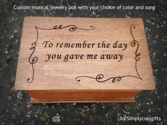 personalized gift for Dad choose your color and song music box custom engraved Father of the Bride gift