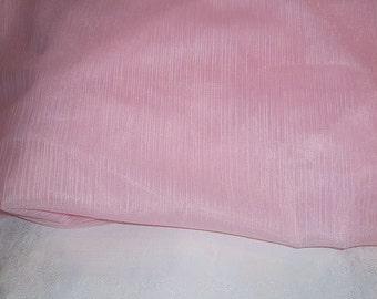 1 Yard Sheer Pink Fabric