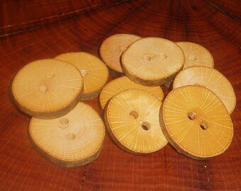 10 Tree Branch Wood Buttons