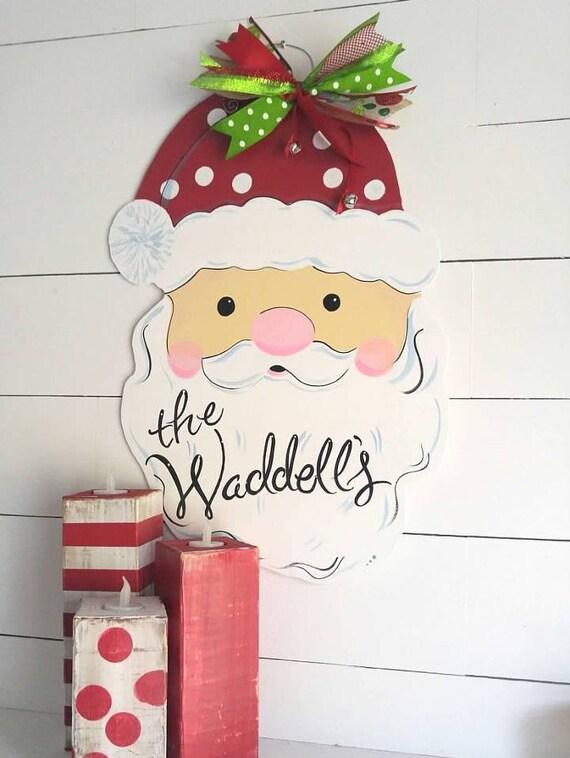 Santa Claus Christmas Door Hanger!