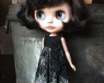 Vintage Style Neo Blythe Halloween Dress - BOO!!!