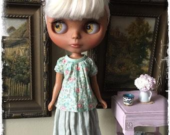 Blythe Gauze Skirt and Blouse Set