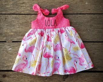 Flamingo Peasant dress Newborn to girls 1112 fruit dress summer outfits summer dress