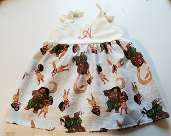Moana dress, girls monogrammed Moana dress, Moana birthday, personalized, Moana outfit, disney princess gift,