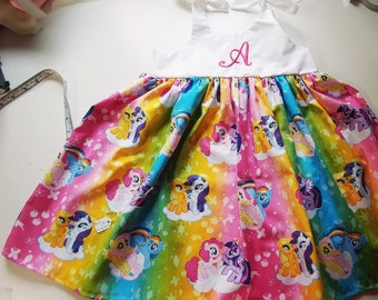 f274db3af My little pony dress, girls monogrammed my little pony inspired dress,  birthday outfit , personalized, my little pony outfit, gift,