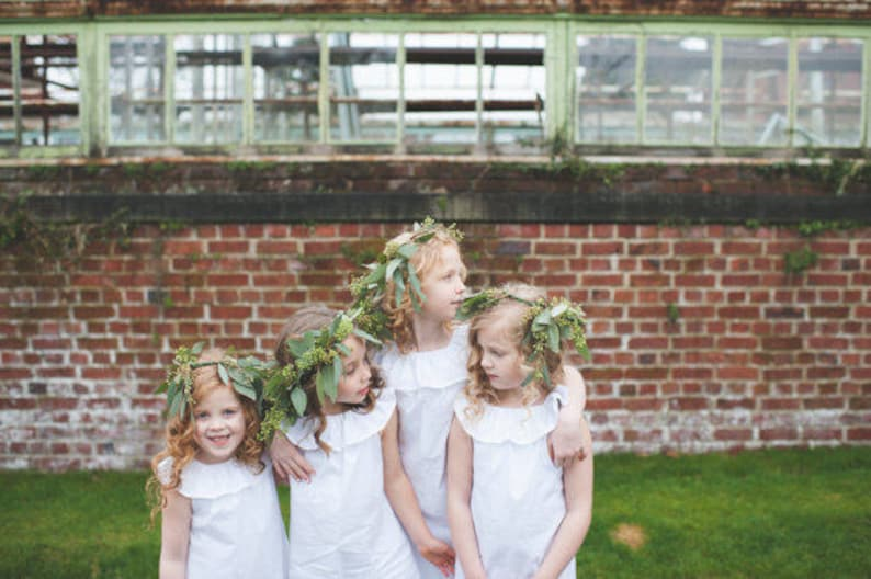Boho flower girl dress bohemian flower girl dresses white image 0