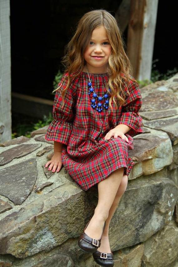 50 - Girls Plaid Christmas Dress