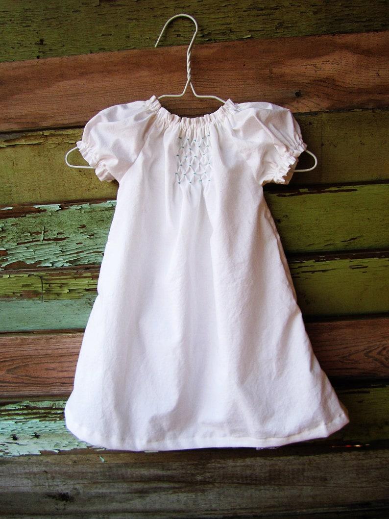Hand Smocked dress summer dress baby girls simple heirloom image 0