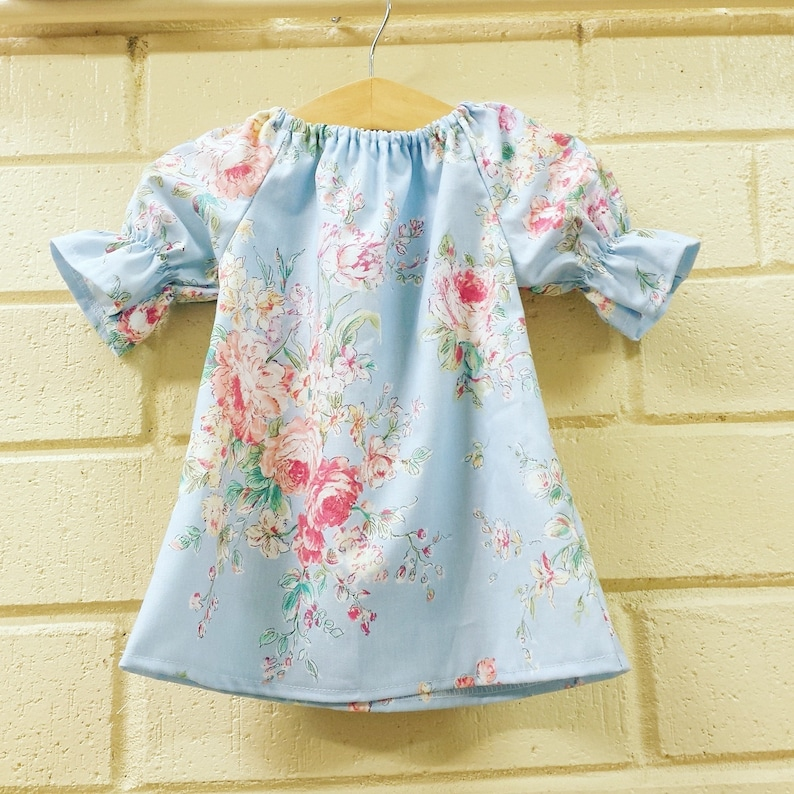 Girls fall Dress Baby Dress floral coming home outfit  baby image 0