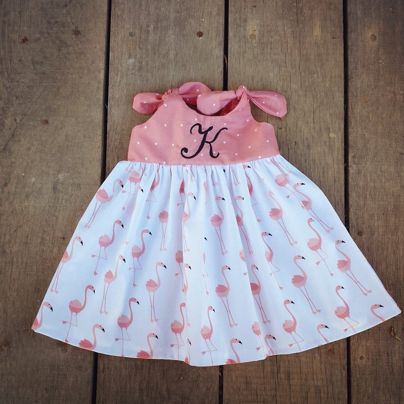 9cd907a1ee3e Flamingo dress Beach Dress Summer outfit monogrammed baby