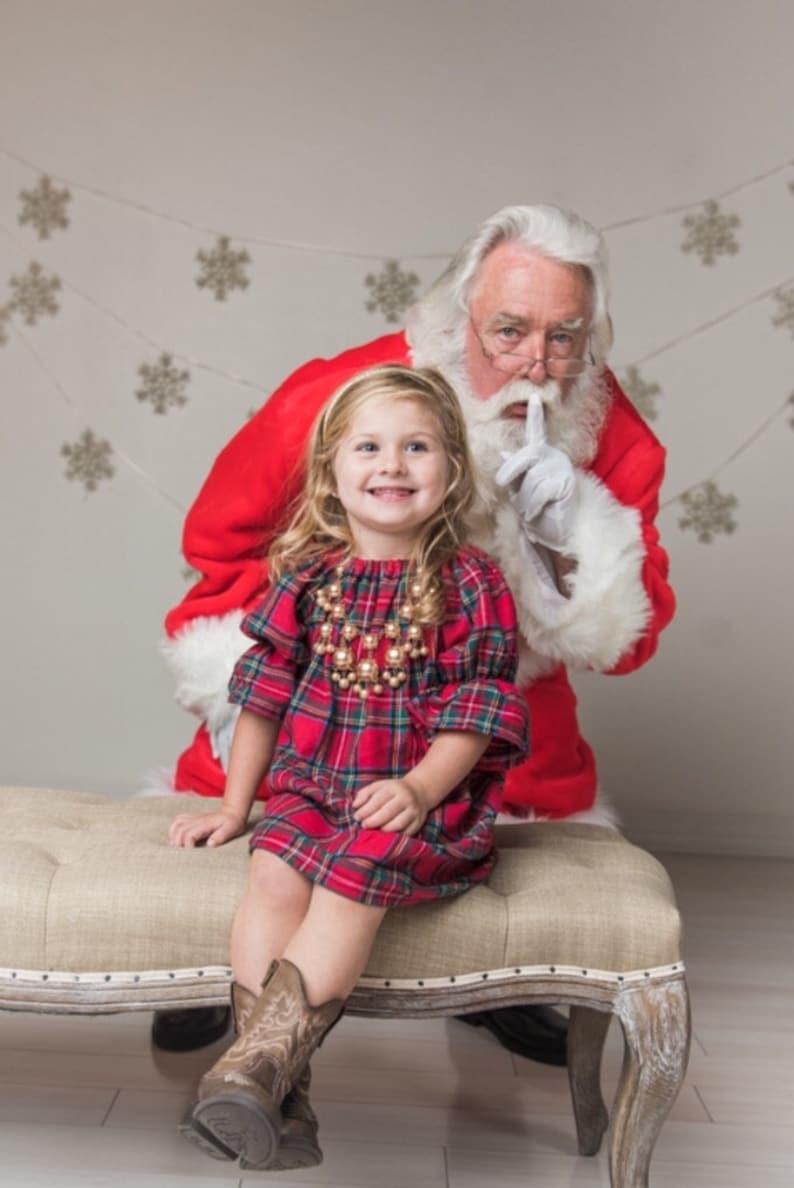 Red Plaid Flannel Girls Christmas dress Christmas Pajamas image 0