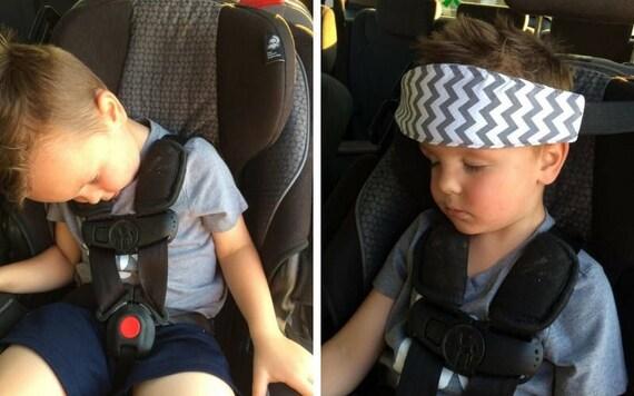 GREY NAVY PINK Chevron Car Seat Sleep Strap No Flopping Head