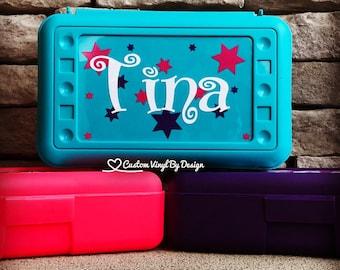 Personalized Pencil Box | School Supplies | Plastic School Box Girls | Crayon Box | Plastic Pencil Box | Girls Pencil Box | Kids Pencil Box
