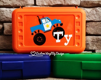 Personalized Pencil Box | School Supplies | Plastic School Box Boys | Crayon Box | Plastic Pencil Box | Boys Pencil Box | Police Pencil Box