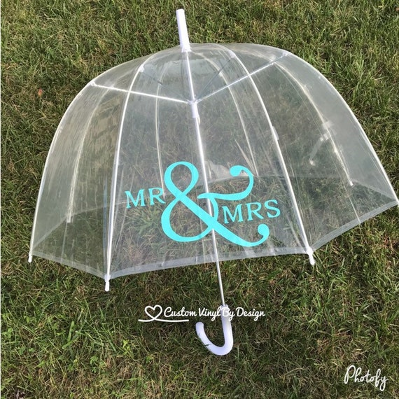 Mr And Mrs Umbrella Wedding Umbrella Rain Umbrella Clear Umbrella Bubble Umbrella Engagement Photo Prop