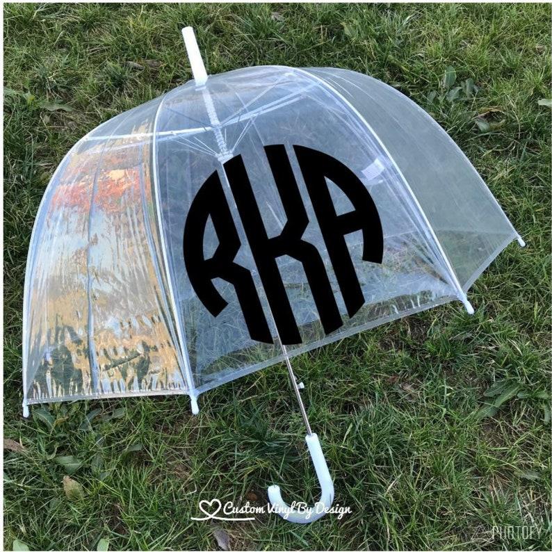 Monogram Umbrella  Personalized Umbrella for Adult image 0