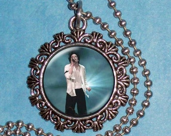 Michael Jackson Art Pendant,  The King of Pop Resin Art Pendant, Photo Pendant