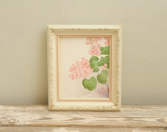 Watercolor Pink Floral Painting
