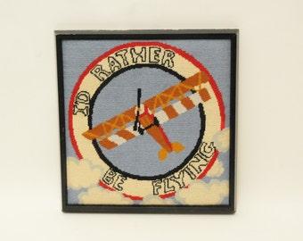 World War II Airplane Needlepoint Belt DIY Canvas