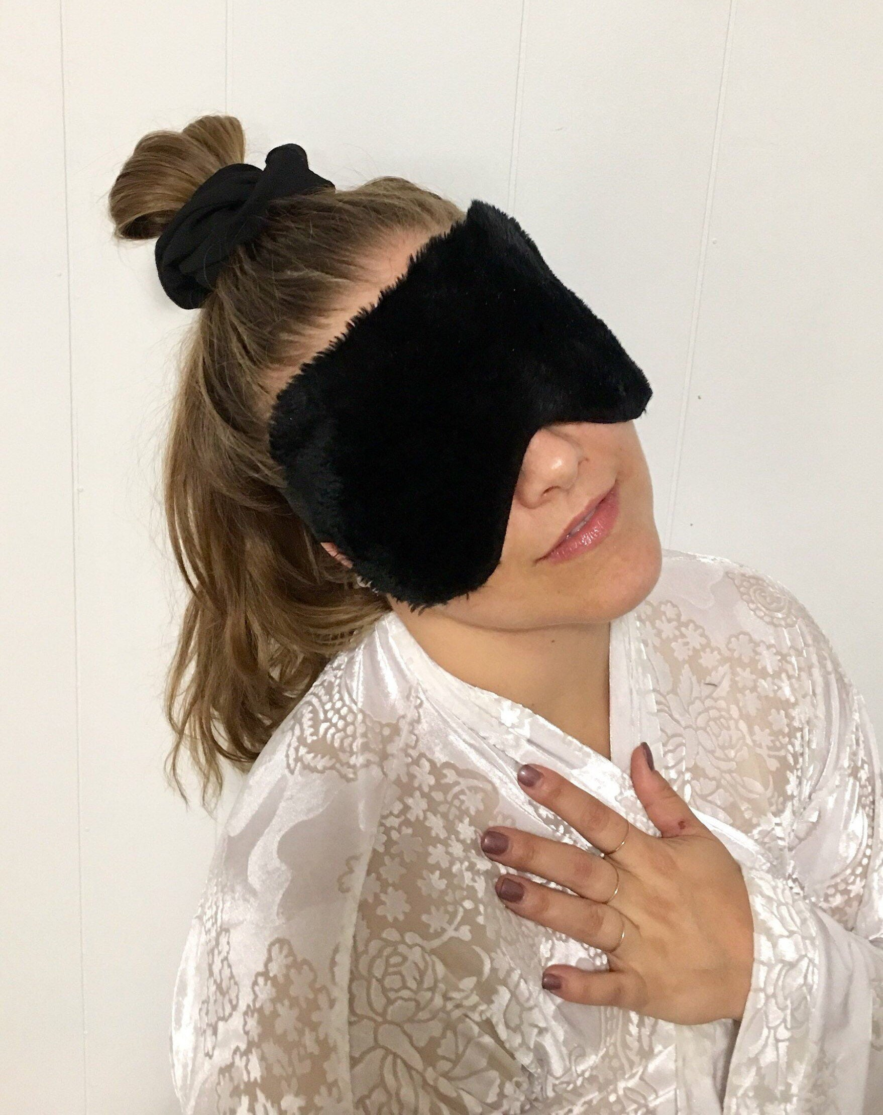 Gifts for Him Blackout Oversized Eyemask backed with Silk Satin Eye Mask Gifts for Her Sleepmask Fuck Off thick elastic band