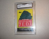 1983 Return of Jedi Empty Wax Pack Wrapper Graded GMA Trading Card Vintage Antiques Collectibles 11291