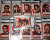 1976 Happy Days 11 Sticker set GMA Trading Card Vintage Antiques Collectibles 101293