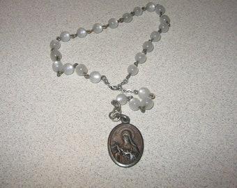 Rosary Prayer Beads Vintage Costume Jewelry #r47