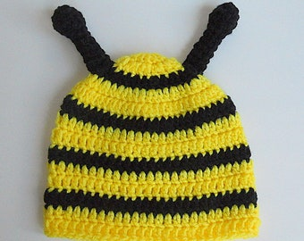 5a72f5d39b98f Baby bee hat | Etsy