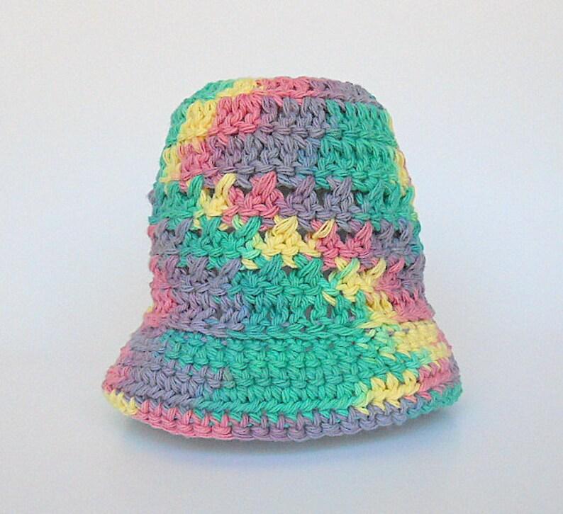 1 Year Old Baby Girl Cotton Rainbow Hat Infant Boy Summer Cap  d6570da8020