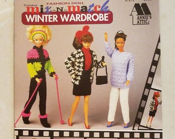 1993 Fashion Doll Crochet Mix-In-Match Winter Wardrobe
