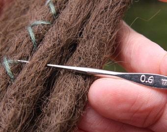 Set Of 2 Steel Crochet Hooks for Dreads | Dreadlock Maintenance Tool | Small Dread Hook 0.6mm + 0.75mm | Crochet Dreads | Dreadlock Tools