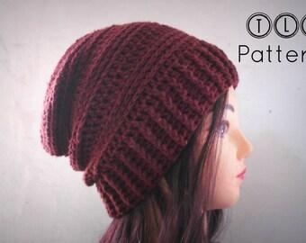 CROCHET PATTERN slouchy hat pattern crochet slouchy beanie  1542bb0fb18