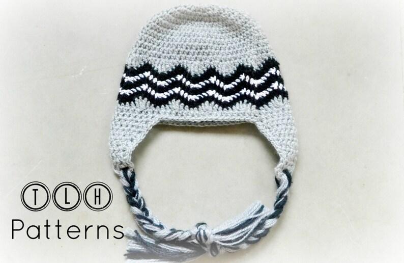 98d31a1de92 Crochet hat pattern crochet earflap hat Chevron hat pattern
