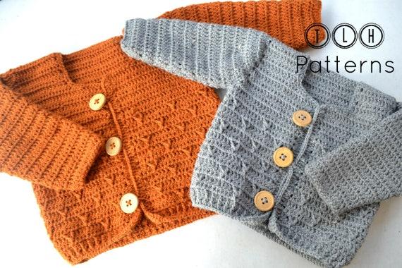 61053d898 Crochet baby cardigan pattern crochet baby sweater pattern
